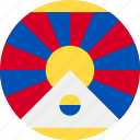 ball, country, flag, tibet icon