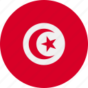 ball, country, flag, tunisia icon