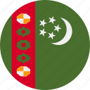 ball, country, flag, turkmenistan icon