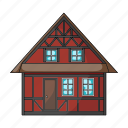 cottage, country, denmark, house, sightseeing, travel icon