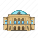 architecture, building, country, denmark, parliament, sightseeing, travel icon