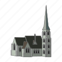 church, country, denmark, sightseeing, temple, travel icon
