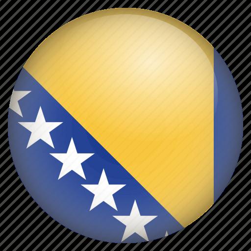 bosnia herzegovina, country, flag, location, nation, navigation, pin icon