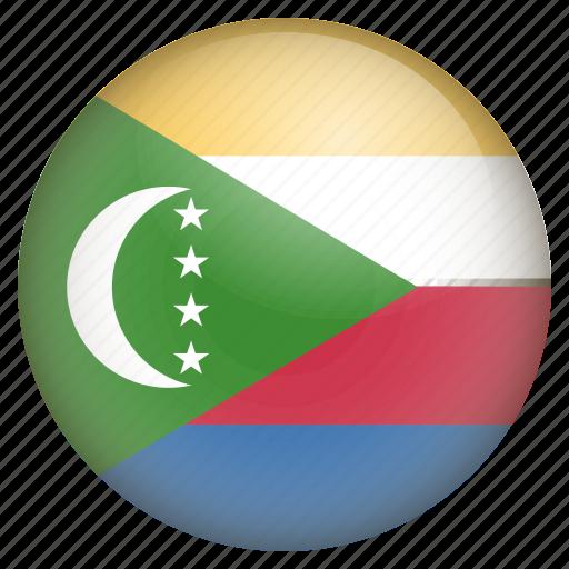comoros, country, flag, location, nation, navigation, pin icon
