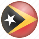 country, flag, location, nation, navigation, pin, timor icon