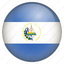 country, flag, location, nation, navigation, pin, salvador icon