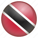country, flag, location, nation, navigation, pin, trinidad and tobago icon