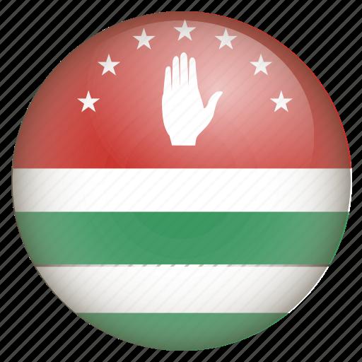 abkhazia, country, flag, location, nation, navigation, pin icon