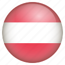 austria, country, flag, location, nation, navigation, pin icon