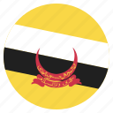 brunei1, country, flag, location, nation, navigation, pin icon