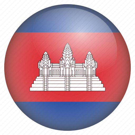 cambodia, country, flag, location, nation, navigation, pin icon