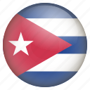 country, cuba, flag, location, nation, navigation, pin icon