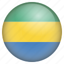 country, flag, gabon, location, nation, navigation, pin icon