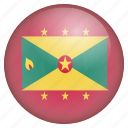country, flag, grenada, location, nation, navigation, pin icon