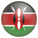 country, flag, kenya, location, nation, navigation, pin icon