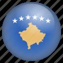 country, flag, kosovo, location, nation, navigation, pin icon