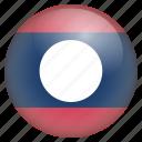 country, flag, laos, location, nation, navigation, pin
