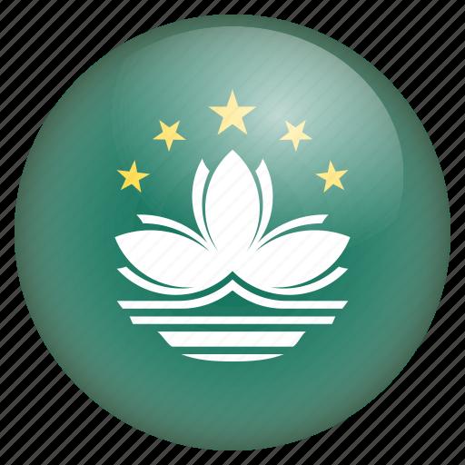 country, flag, location, macau, nation, navigation, pin icon