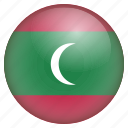 country, flag, location, maldives, nation, navigation, pin icon