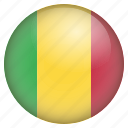 country, flag, location, mali, nation, navigation, pin icon