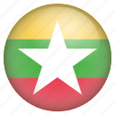 country, flag, location, myanmar, nation, navigation, pin icon