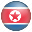country, flag, location, nation, navigation, north korea, pin icon