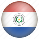 country, flag, location, nation, navigation, paraguay, pin icon