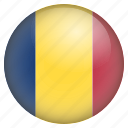 country, flag, location, nation, navigation, pin, romania icon