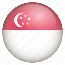 country, flag, location, nation, navigation, pin, singapore icon