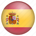 country, flag, location, nation, navigation, pin, spain icon