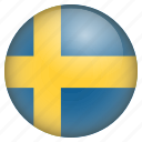 country, flag, location, nation, navigation, pin, sweden icon