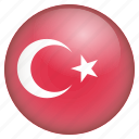 country, flag, location, nation, navigation, pin, turkey icon