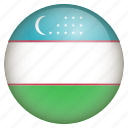 country, flag, location, nation, navigation, pin, uzbekistan icon