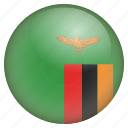 country, flag, location, nation, navigation, pin, zambia icon