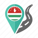 abkhazia, country, flag, location, nation, navigation, pin icon