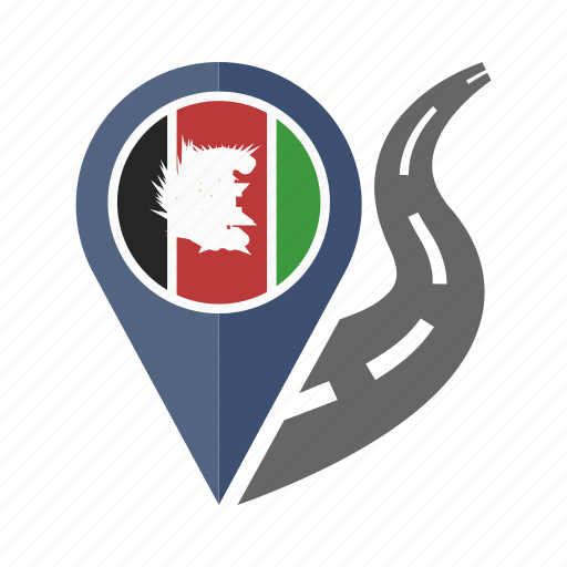 afghanistan, country, flag, location, nation, navigation, pin icon