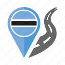 botswana, country, flag, location, nation, navigation, pin icon
