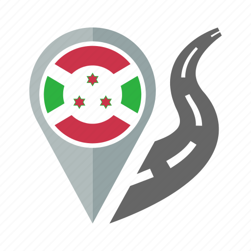 burundi, country, flag, location, nation, navigation, pin icon