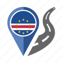 cape verde, country, flag, location, nation, navigation, pin icon