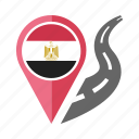 country, egypt, flag, location, nation, navigation, pin icon