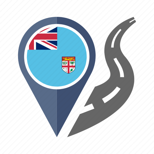 country, fiji, flag, location, nation, navigation, pin icon