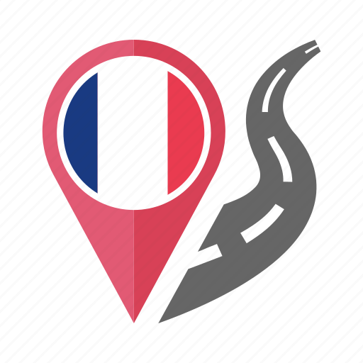 country, flag, france, location, nation, navigation, pin icon