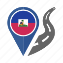 country, flag, haiti, location, nation, navigation, pin icon