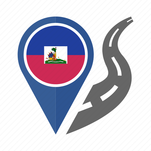 country, flag, haiti, location, nation, navigation, pin icon