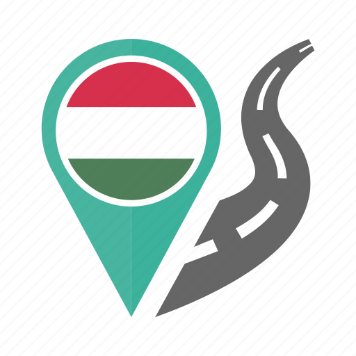 country, flag, hungary, location, nation, navigation, pin icon