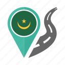 country, flag, location, mauritania, nation, navigation, pin