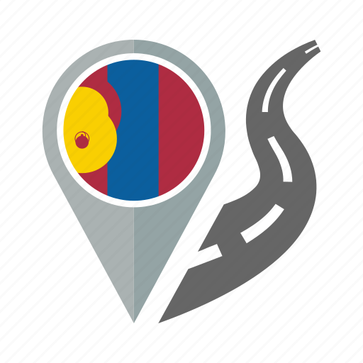 country, flag, location, mongolia, nation, navigation, pin icon