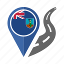 country, flag, location, montserrat, nation, navigation, pin icon