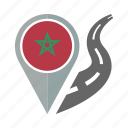 country, flag, location, morocco, nation, navigation, pin