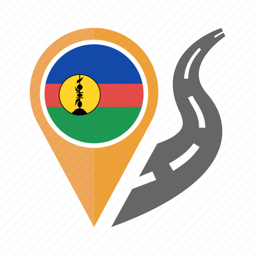 country, flag, location, nation, navigation, new caledonia, pin icon